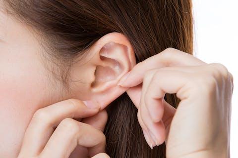 耳ツボの刺激で食事量が減っても十分に満腹感が得られる。