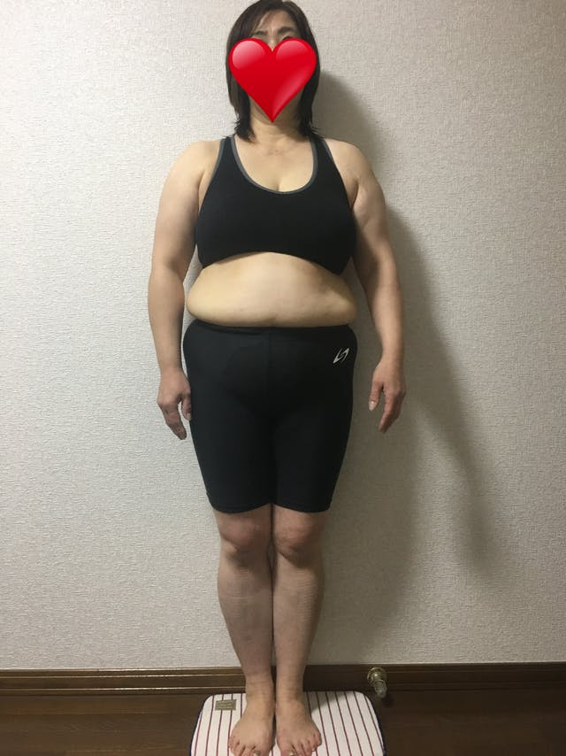 3ヶ月で−9kg減、脱☆ポッコリお腹(155cm 54歳 )