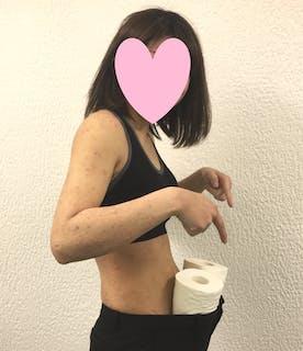 会社のズボンがユルユル〜に?トイレットペーパー2つ分変わった!!(神戸市北区在住 44歳女性)
